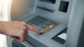 Ввод кода в банкомате
