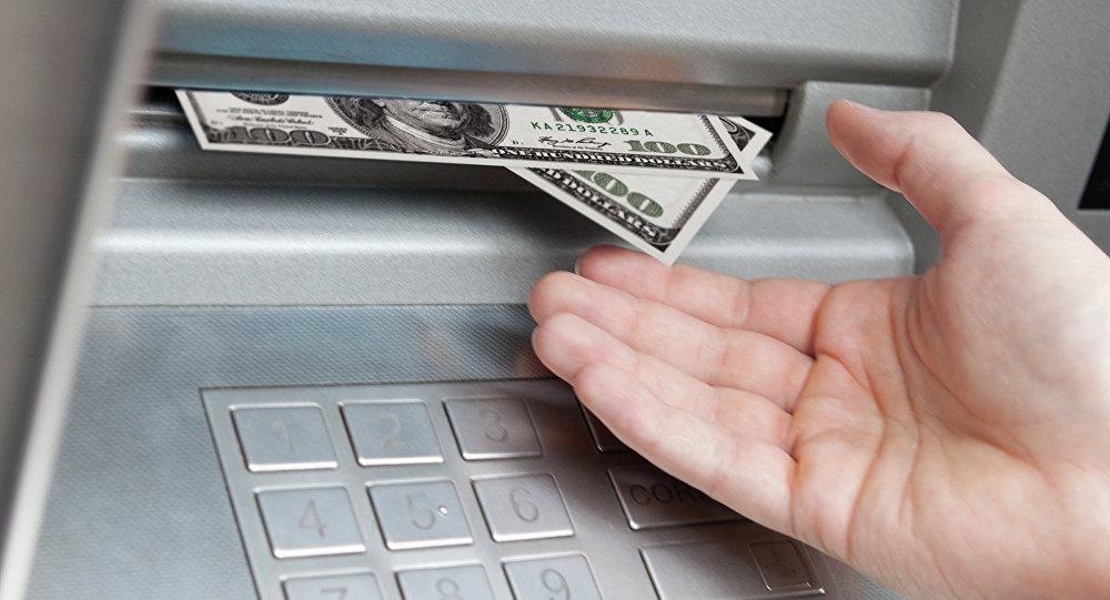 Банкомат с долларами