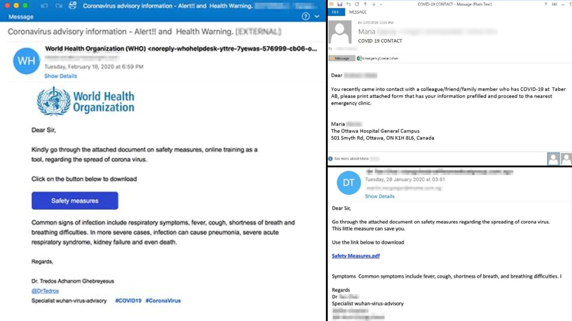 Коронавірус електронною поштою